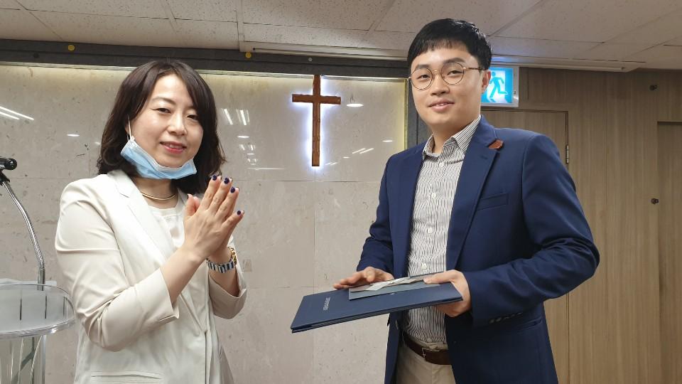 한국장애인복지관협회 협회장 표창장 수상 (점역팀 이길원) 썸네일